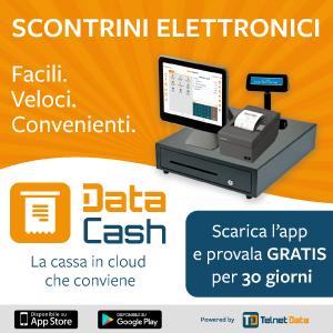 Immagine promozionale di Data Cash, l'app per emettere scontrini elettronici e gestire il tuo punto vendita in modo facile, veloce e convieniente