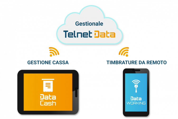 App connesse a gestionale in cloud Telnet Data
