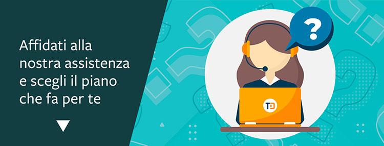 Scegli il tuo piano assistenza Telnet Data