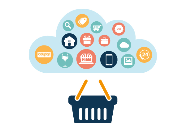 Infografica e-commerce tecnologia cloud