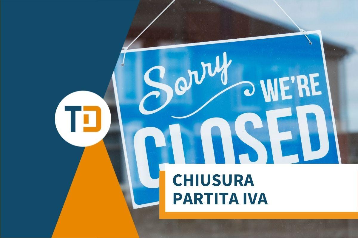 chiusura partita iva cartello siamo chiusi