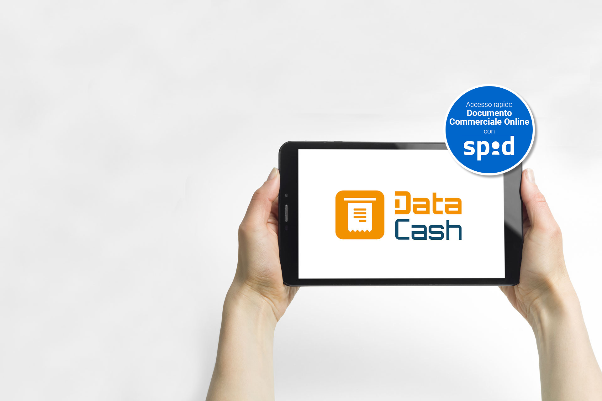 Data Cash app per scontrini elettronici e gestione punto cassa. Accesso a documento commerciale online con SPID