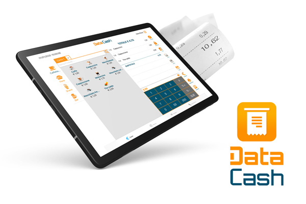 Data Cash app su tablet scontrini elettronici