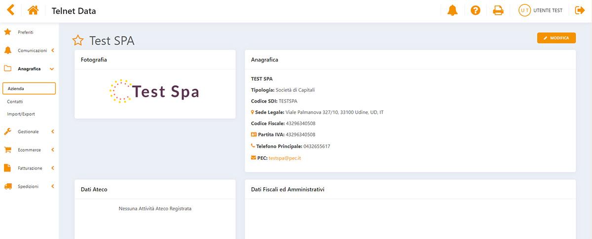 Pagina azienda Data Working