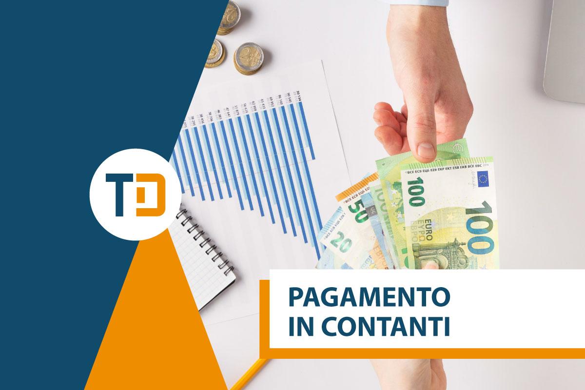 pagamento in contanti 100 euro
