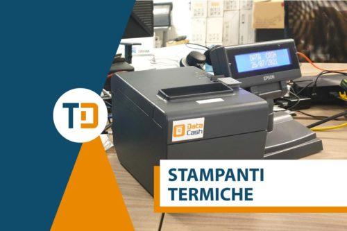 stampante termica con installato Data Cash in ufficio